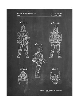 PP668-Chalkboard Star Wars Dengar Patent Poster