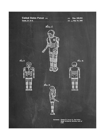 PP691-Chalkboard Star Wars Medical Droid Patent Poster