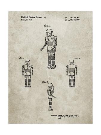 PP691-Sandstone Star Wars Medical Droid Patent Poster
