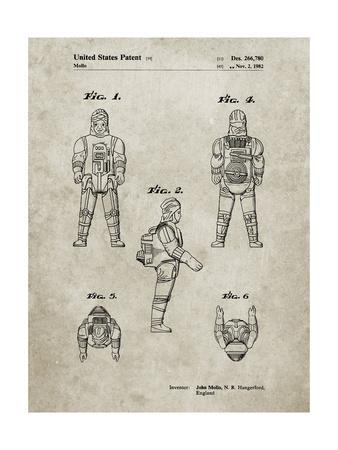 PP668-Sandstone Star Wars Dengar Patent Poster
