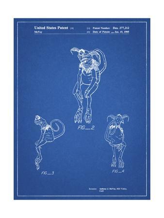 PP694-Blueprint Star Wars Salacious Crumb Patent Poster