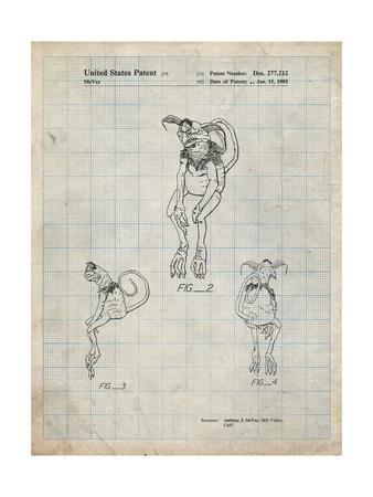 PP694-Antique Grid Parchment Star Wars Salacious Crumb Patent Poster
