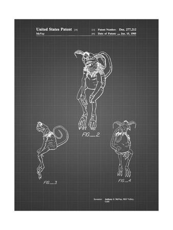 PP694-Black Grid Star Wars Salacious Crumb Patent Poster