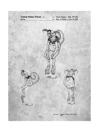 PP694-Slate Star Wars Salacious Crumb Patent Poster