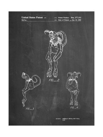 PP694-Chalkboard Star Wars Salacious Crumb Patent Poster