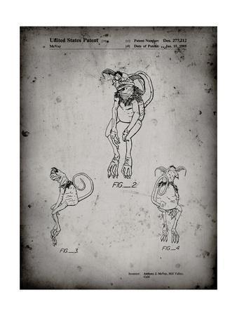 PP694-Faded Grey Star Wars Salacious Crumb Patent Poster
