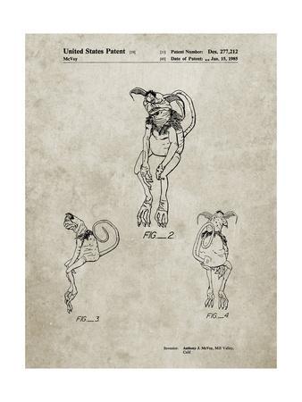 PP694-Sandstone Star Wars Salacious Crumb Patent Poster