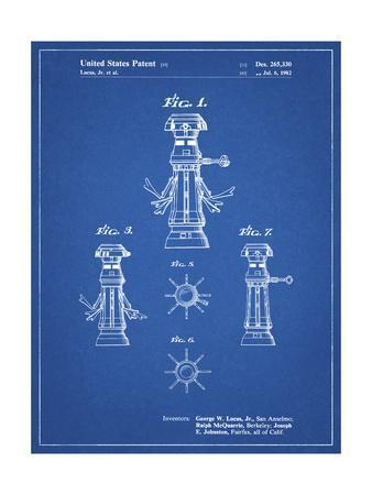 PP665-Blueprint Star Wars FX-7 Medical Droid Patent Poster
