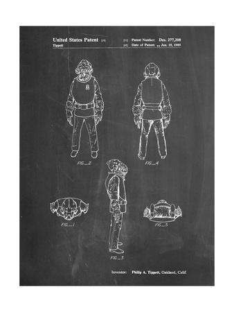 PP688-Chalkboard Star Wars Admiral Ackbar Patent Poster
