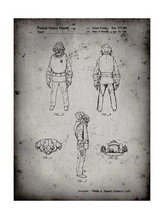 PP688-Faded Grey Star Wars Admiral Ackbar Patent Poster