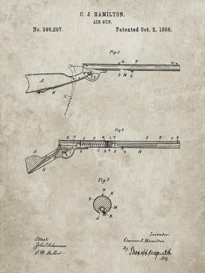 PP777-Sandstone Daisy Air Rifle Patent Art