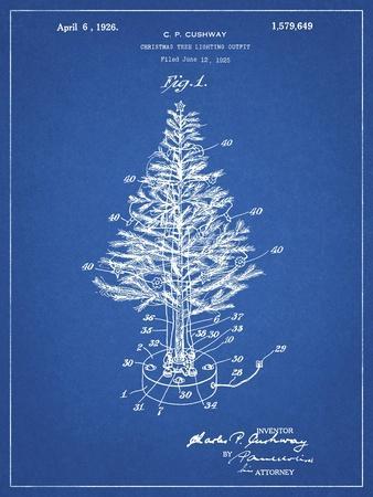 PP766-Blueprint Christmas Tree Poster