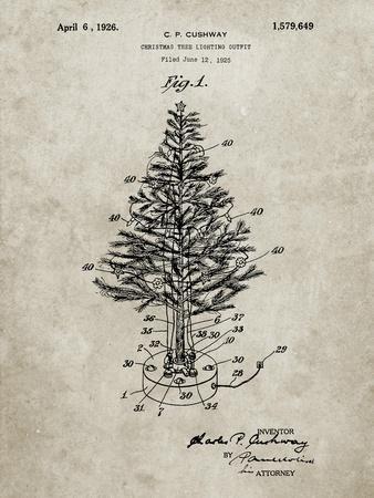 PP766-Sandstone Christmas Tree Poster