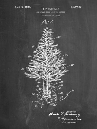 PP766-Chalkboard Christmas Tree Poster