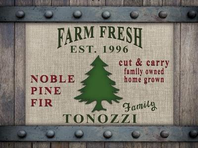 Personalized Christmas Sign V10