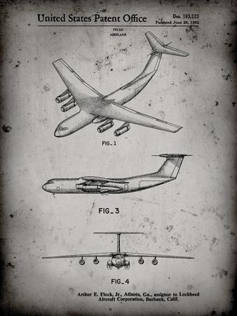 PP944-Faded Grey Lockheed C-130 Hercules Airplane Patent Poster