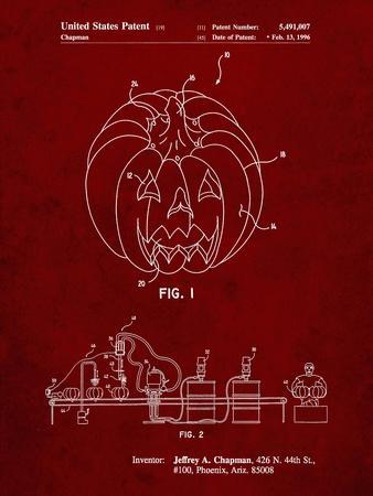 PP1003-Burgundy Pumpkin Patent Poster