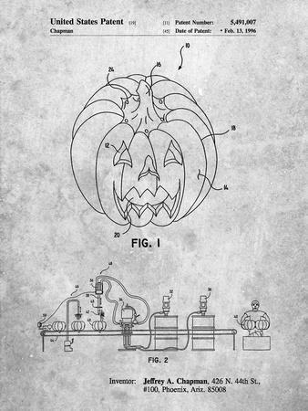 PP1003-Slate Pumpkin Patent Poster