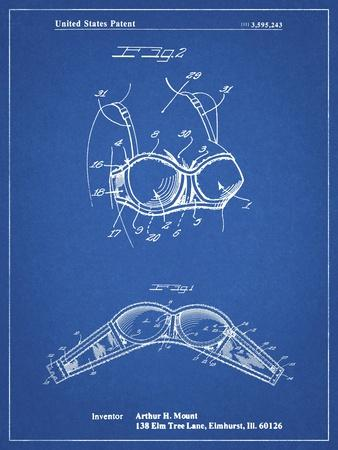 PP1004-Blueprint Push-up Bra Patent Poster