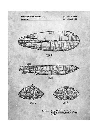 PP1056-Slate Star Wars Rebel Transport Patent Poster