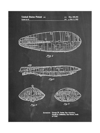 PP1056-Chalkboard Star Wars Rebel Transport Patent Poster