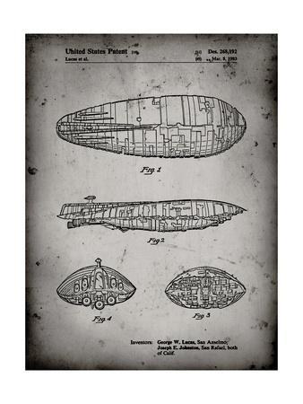 PP1056-Faded Grey Star Wars Rebel Transport Patent Poster