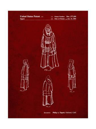 PP1054-Burgundy Star Wars Bib Fortuna Patent Poster