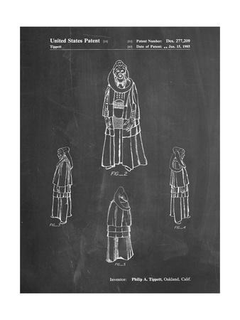 PP1054-Chalkboard Star Wars Bib Fortuna Patent Poster
