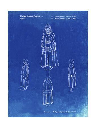 PP1054-Faded Blueprint Star Wars Bib Fortuna Patent Poster