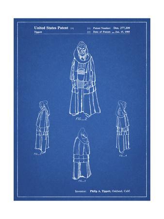 PP1054-Blueprint Star Wars Bib Fortuna Patent Poster