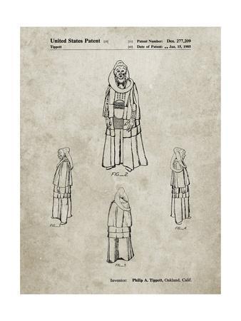 PP1054-Sandstone Star Wars Bib Fortuna Patent Poster