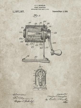 PP162- Sandstone Pencil Sharpener Patent Poster