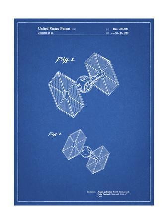 PP211-Blueprint Star Wars TIE Fighter Patent Poster