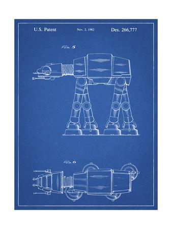PP224-Blueprint Star Wars AT-AT Imperial Walker Patent Poster