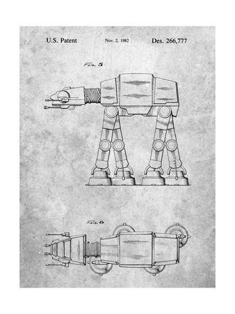 PP224-Slate Star Wars AT-AT Imperial Walker Patent Poster