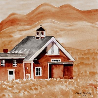 Brown Folk Art Barn