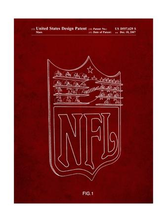 PP217-Burgundy NFL Display Patent Poster