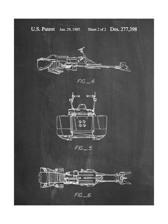 PP99-Chalkboard Star Wars Speeder Bike Patent Poster