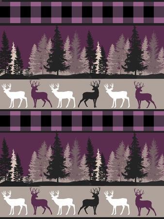 Burgundy Deer