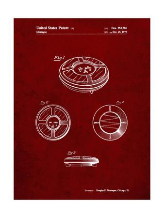 PP253-Burgundy Simon Patent Poster