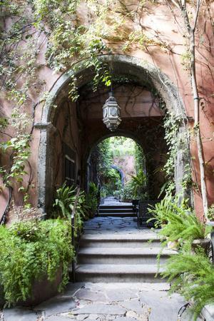 Mexico, San Miguel de Allende, Street archway.