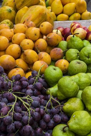 Fresh tropical fruit for sale in historic Cartagena, Colombia.