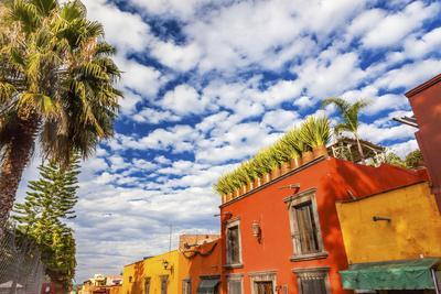Orange Yellow Town Streets, San Miguel de Allende, Mexico.