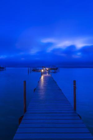 Florida, Sanibel, Private Dock at dawn