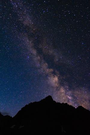 The Milky Way over the Palisades, John Muir Wilderness, Sierra Nevada Mountains, California, USA