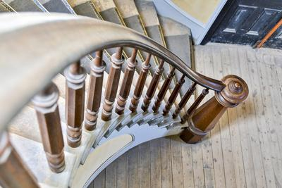 USA, Montana, Bannack State Park, Staircase