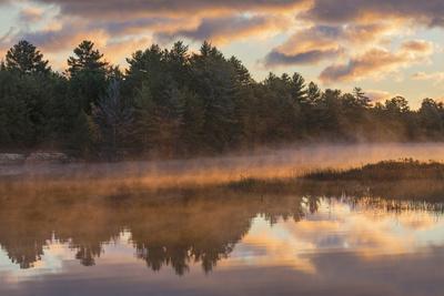 Tahquamenon River at sunrise, Paradise, Michigan.