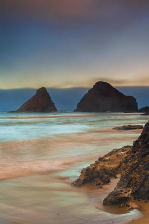 USA, Oregon, Florence. Sunrise on Heceta Beach.