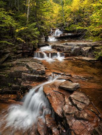 USA, New Hampshire, White Mountains, Vertical panorama of Coliseum Falls