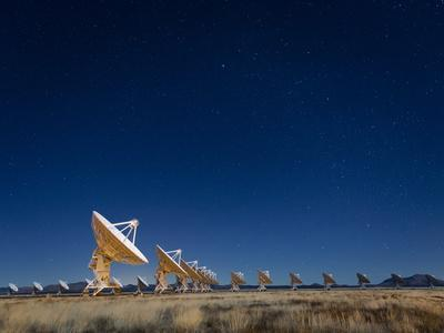 Radio telescopes at an Astronomy Observatory, New Mexico, USA